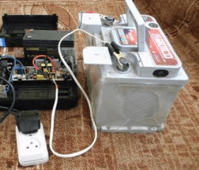 Автомобильный аккумулятор в ИБП